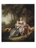 Kärleksbrevet Posters av Francois Boucher