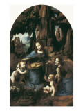 The Virgin of the Rocks Premium Giclee Print by  Leonardo da Vinci