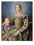 Portrait of Eleonora Di Toledo with Her Son Giovanni Reproduction procédé giclée par Agnolo Bronzino
