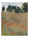Champs de coquelicots Reproduction procédé giclée par Claude Monet