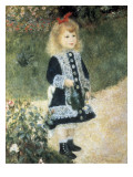 A Girl with a Watering Can Premium Giclee Print by Pierre-Auguste Renoir