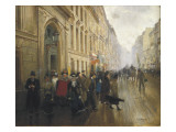 Leaving the Conservatoire in Paris Giclee Print by Jean Beraud