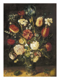 Vase of Flowers Posters by Jan Brueghel the Elder