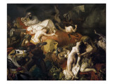 The Death of Sardanapalus Art by Eugene Delacroix