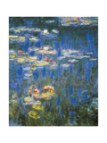 Waterlilies: Green Reflections Stampe di Claude Monet