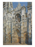 Rouen Cathedral, the Portal and the Tower of Saint-Romain, Morning Effect, Harmony in White Reproduction procédé giclée par Claude Monet