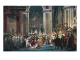 Consecration of the Emperor Napoleon and the Coronation of the Empress Josephine by Pope Pius VII Posters av Jacques-Louis David