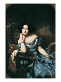 Countess of Vilches Giclee Print by Federico de Madrazo y Kuntz