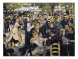 Ball at the Moulin De La Galette, Montmartre Giclee Print by Pierre-Auguste Renoir