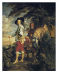 King Charles I of England Out Hunting Kunst von Sir Anthony Van Dyck