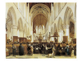 The Interior of the Grote Kerk, Haarlem Giclee Print by Gerrit Adriaensz Berckheyde