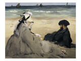 On the Beach Art by Édouard Manet