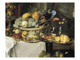 Fruits and Dinner Service on a Table Lámina por Jan Davidsz. de Heem
