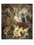 The Arrival of Marie De Medici in Marseille, 3rd November 1601 Poster by Peter Paul Rubens