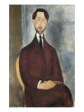Portrait of Leopoldo Zborowski Giclee Print by Amedeo Modigliani