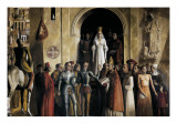 Coronation of Isabel the Catholic in the Plaza Mayor (Main Square) of Segovia (13rd December 1474) Poster