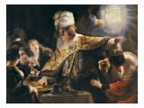 Belshazzar's Feast Prints by  Rembrandt van Rijn