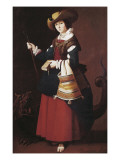 Saint Margaret Giclee Print by Francisco de Zurbarán