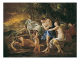 Cephalus and Aurora Print by Nicolas Poussin