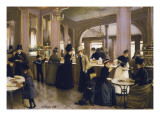 The Gloppe Pastry Shop Giclee Print by Jean Beraud