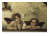 The Sistine Madonna Reproduction procédé giclée par Raphael