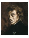 Frédéric Chopin Poster by Eugene Delacroix