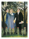 The Muse Inspiring the Poet (Portrait of Guillaume Apollinaire and Marie Laurencin) Posters by Henri Rousseau