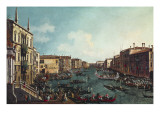 A Regatta on the Grand Canal Poster by  Canaletto