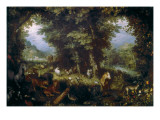 The Earthly Paradise Giclee Print by Jan Bruegel the Elder