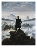 The Wanderer Above the Sea of Fog Giclee Print by Caspar David Friedrich