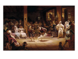 A Dance of Lamp-Oil Giclee Print by Josep Llovera Bofill