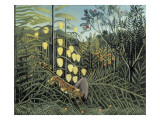 In a Tropical Forest Plakater af Henri Rousseau