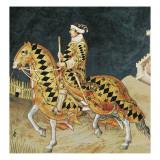Equestrian Portrait of Guidoriccio Da Fogliano Giclée-tryk af Simone Martini