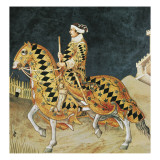 Equestrian Portrait of Guidoriccio Da Fogliano Prints by Simone Martini
