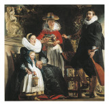 The Artist and His Family in a Garden Posters by Jacob Jordaens
