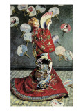 La Japonaise (Camille Monet in Japanese Costume) Affischer av Claude Monet
