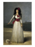 Duchess of Alba Poster av Francisco de Goya