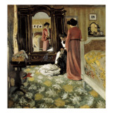 Interior Giclee Print by F&#233;lix Vallotton