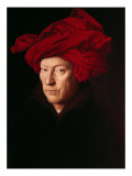 Portrait of a Man Premium Giclee Print by  Jan van Eyck