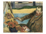 Van Gogh Painting Sunflowers Giclee Print by Paul Gauguin