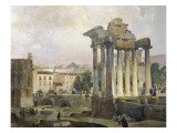The Forum Premium Giclee Print by Ippolito Caffi