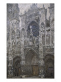 Rouen Cathedral, West Portal, Dull Weather Giclee Print by Claude Monet