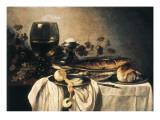 Desayuno Lámina giclée por Pieter Claesz