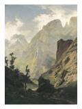 Picos De Europa Giclee Print by Carlos de Haes