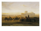 The Caravan Giclee Print by Alexandre Gabriel Decamps