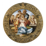 The Holy Family with St Plakater af Michelangelo