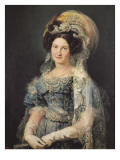Maria Christina De Bourbon-Sicile, Queen of Spain Giclee Print by Vicente Lopez y Portana