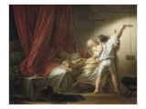 The Bolt Giclee Print by Jean-Honor&#233; Fragonard