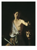 David with the Head of Goliath Posters af Caravaggio