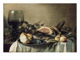 Breakfast with Ham Art by Pieter Claesz
